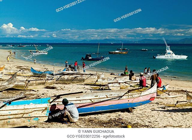 Beach Of Ambatouloaka, Island Of Nosy Be, Madagascar