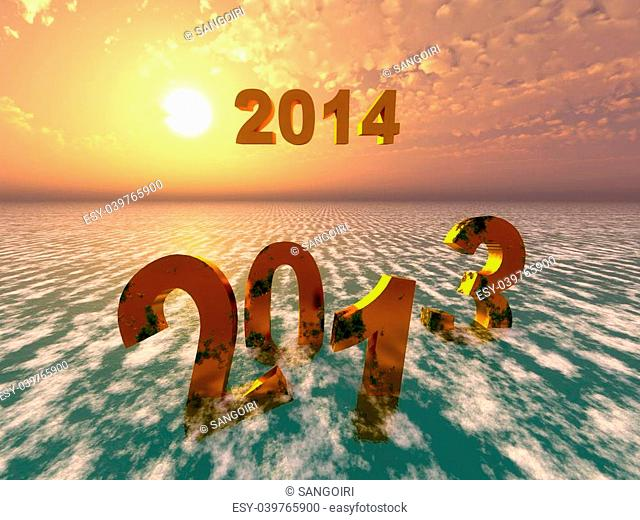 Symbol of 2013 year Stock Photos and Images | age fotostock