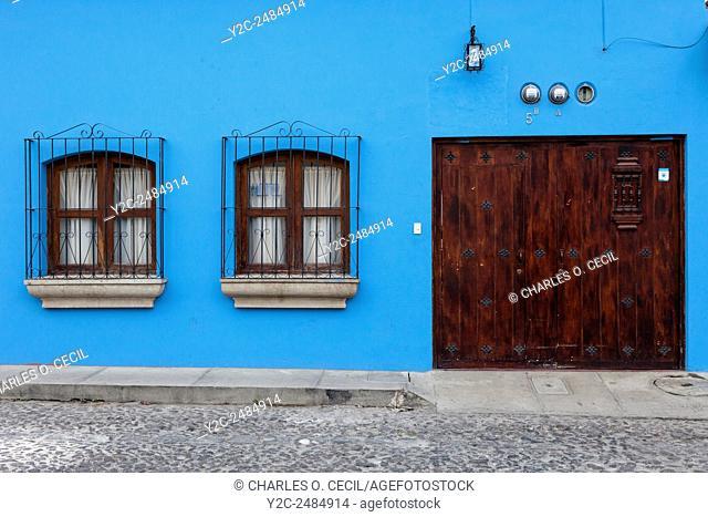 Antigua, Guatemala. Doorway of Private Residence