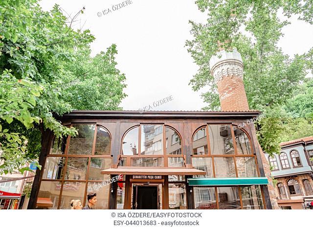 Exterior view of Sehabettin Pasha mosque in Bursa,Turkey. 20 May 2018