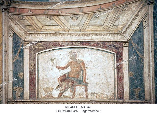 Italy, Naples, Naples Museum, from Pompeii, House of Meleager VI 9, Stucco Policromo Polychrome