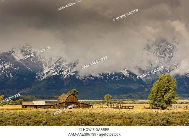 Moulton Barn , Mormon Row, Antelope Flats Road, Grand Teton National Park, Wyoming