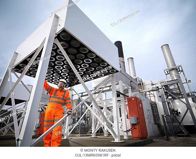 Port Worker In Power Station Environment