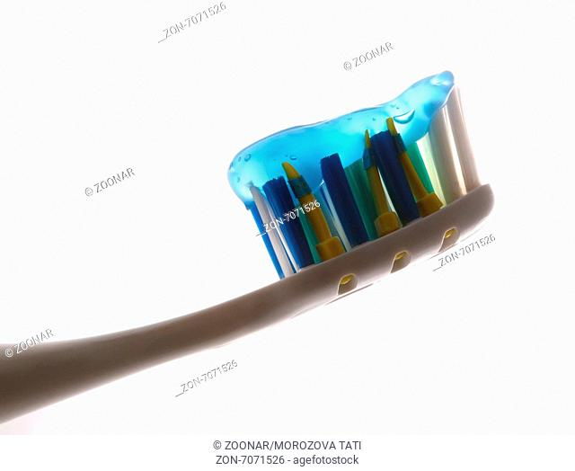 Tooth-brush with tooth-paste