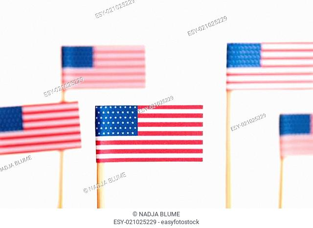 Many American Flags