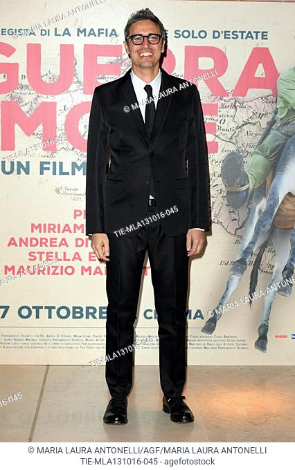 The director Pif Pierfrancesco Diliberto during the Premiere of film In war for the love at 11th Rome Film Festival, Rome, ITALY-12-10-2016
