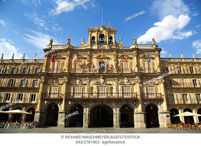Town Hall, Plaza Mayor, Salamanca, UNESCO World Heritage Site, Spain
