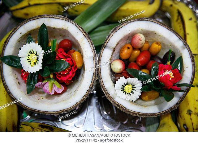 Verities fruits displayed in the National Fruit exhibition at Agricultural Institute in Dhaka, Bangladesh