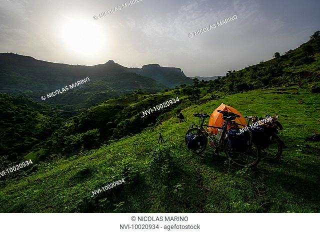 Camping in the highlands of northern Ethiopia