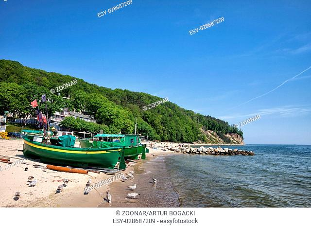 Gdynia Beach and Coastline in Poland