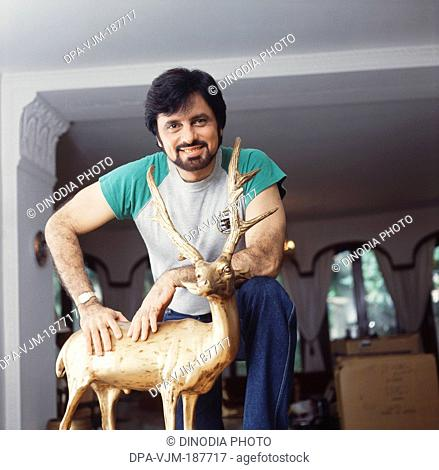 1989, Portrait of Indian film producer, director and actor Sanjay Khan