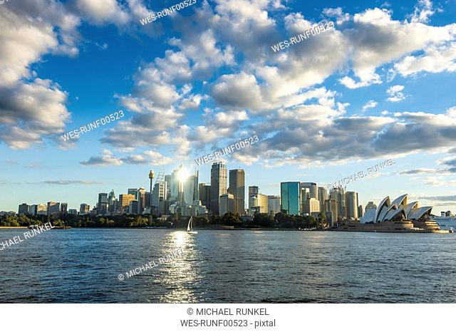 Australia, New South Wales, Sydney, Central Business district and Sydney Opera House