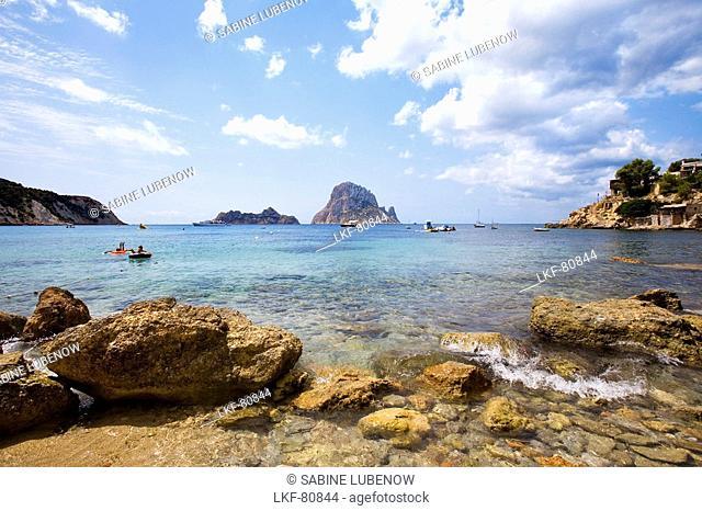 Cala d Hort, Island Es Vedra, Balearic Islands, Ibiza, Spain