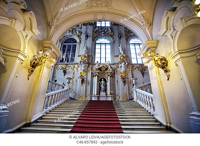 Jordan Staircase of the Hermitage Museum. (Winter Palace). St Petersburg. Russia
