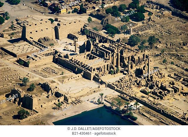 Ruins of Karnak temple, Luxor. Egypt