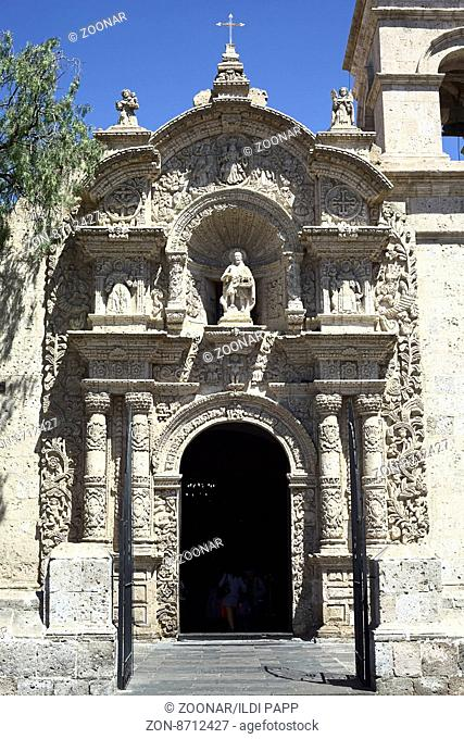 Church of Yanahuara in Arequipa, Peru