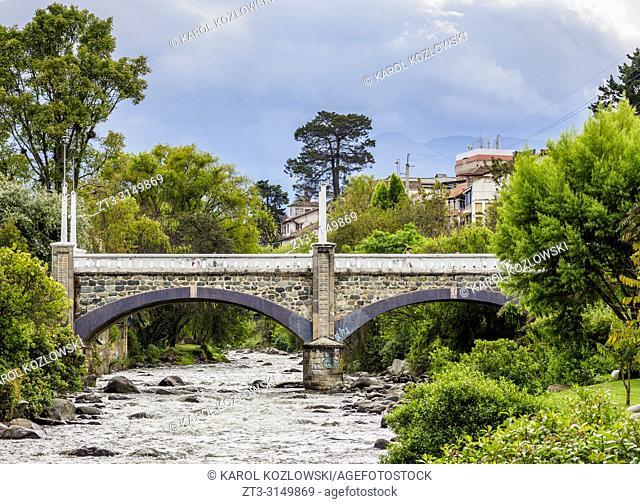 Mariano Moreno Bridge and Tomebamba River, Cuenca, Azuay Province, Ecuador
