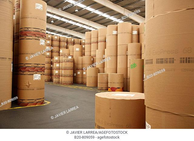 Paper warehouse. Port of Bilbao, Biscay, Basque Country, Spain