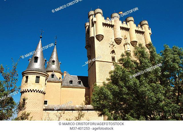 Tower of Juan II in the Alcázar. Segovia. Spain