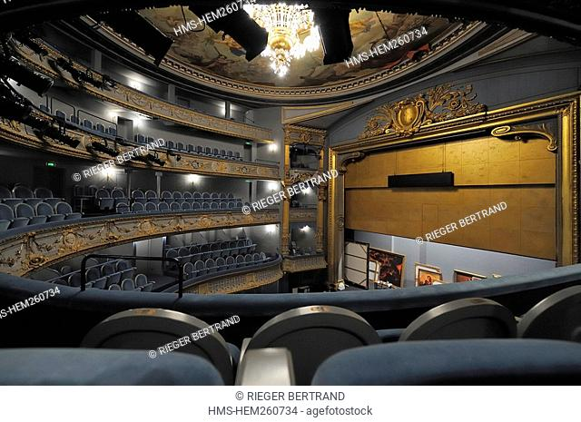 France, Loire Atlantique, Nantes, Graslin Opera house and theatre