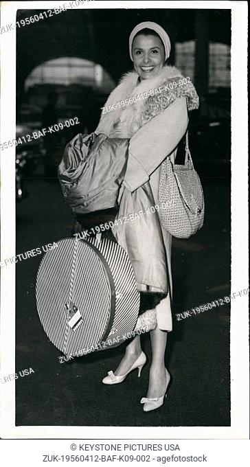 Apr. 12, 1956 - Lena Horne arrives in London: Lena Horne, the famous singer and actress, arrived at Paddington on the s.s. Liberte boat - train