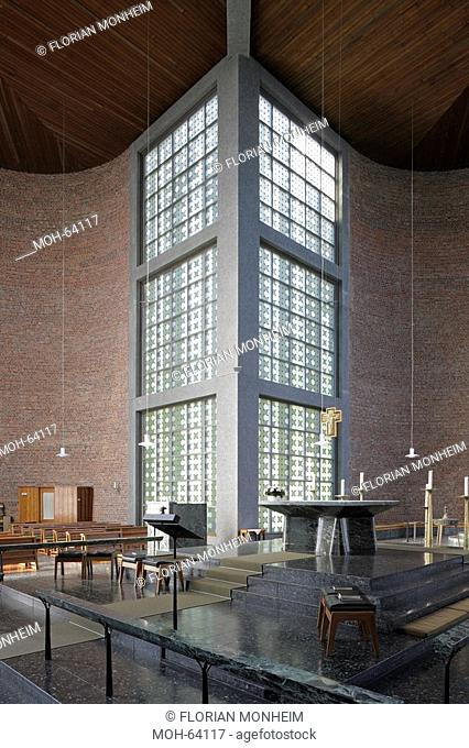 Essen, St. Andreas, 1949 von Rudolf Schwarz erbaut