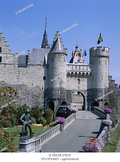 Antwerp, Belgium, Europe, Eastern, Flanders, Fortress, Holiday, Landmark, Steen, Tourism, Travel, Vacation
