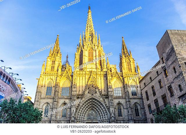 Gothic cathedral, Barcelona, Spain