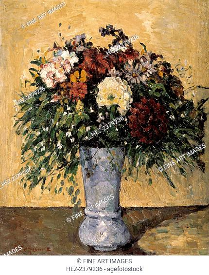 'Flowers in a Blue Vase', 1873-1875. Found in the collection of the State Hermitage, St Petersburg