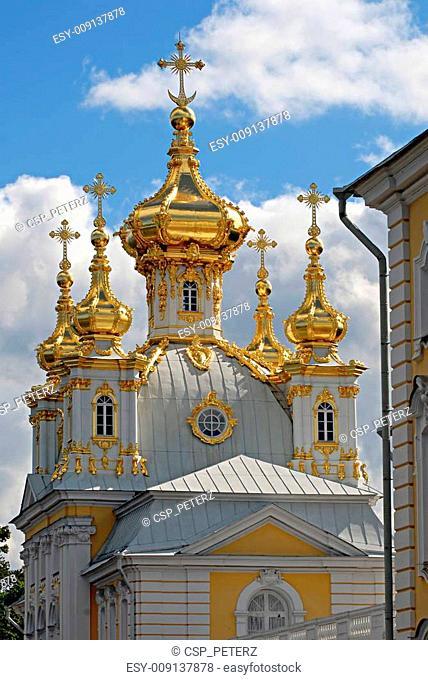 Church in Peterhof. St.Petersburg, Russia