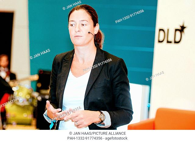 BAYREUTH/GERMANY - JUNE 21: Maren Kroll (Harry's Germany) speaks on the stage during the DLD Campus event at the University of Bayreuth on June 21th
