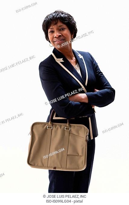 Portrait of mature African American businesswoman, studio shot