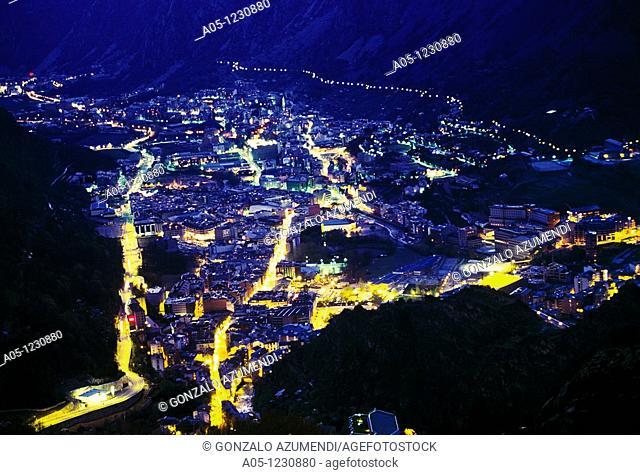 Night  Escaldes and Andorra la Vella  ANDORRA