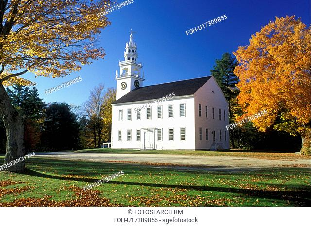 church, Jaffrey Center, New Hampshire, NH, Meeting House in Jaffrey Center in the autumn