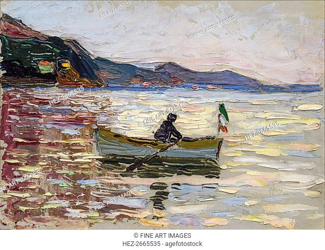 Rapallo. Boat at sea, 1906