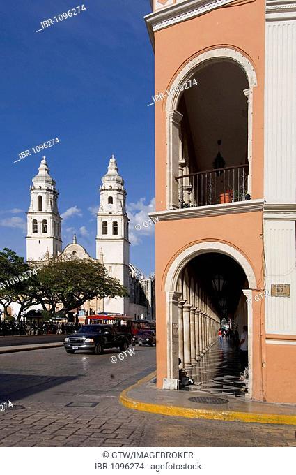 Historic town of Campeche, Cathedral of Nuestra Senora de la Concepcion, Province of Campeche, Yucatan peninsula, Mexico