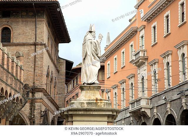 Statue of St Petronius; Bologna; Italy