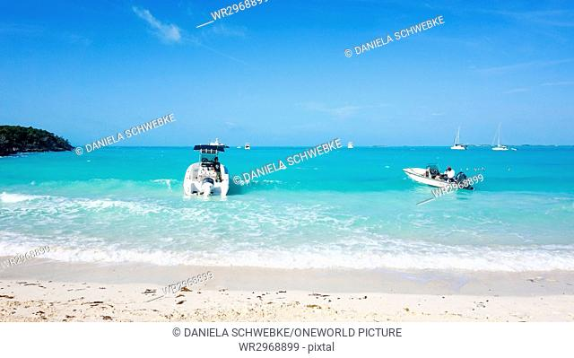 Bahamas Great Exuma Pig Island On The Beach