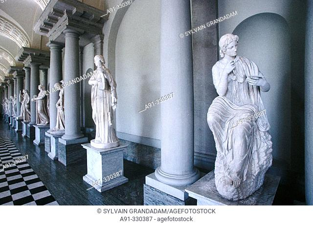 The King Gustav Museum sculptures collection inside the Royal Palace. Stockholm. Sweden