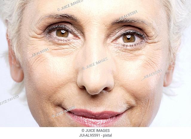 Close-up of senior woman's face