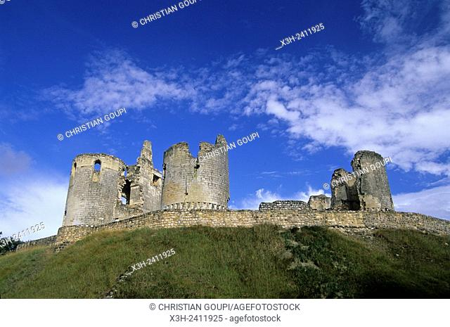 ruined medieval castle of Fere-en-Tardenois, Aisne department, Picardy region, northern France, Europe