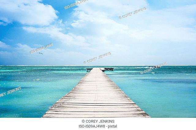 Pier in San Pedro, Belize