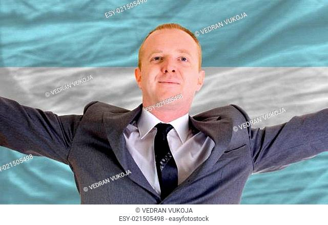 happy businessman because of profitable investment in argentina