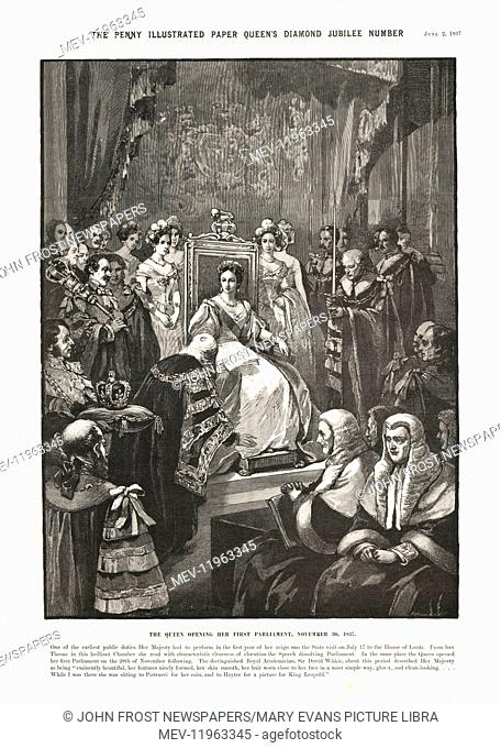 1897 Penny Illustrated Queen Victoria opens her first Parliament