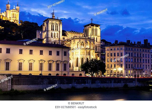 St. John's Cathedral. Lyon, Rhone-Alpes, France. Lyon, Rhone-Alpes, France