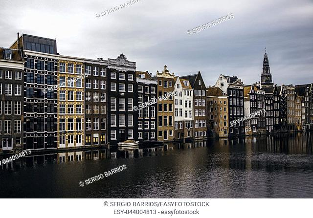 AMSTERDAM, NETHERLAND - SEPTEMBER 06, 2018, Central station building. The building of the Central station is one of the architectural attractions of the city