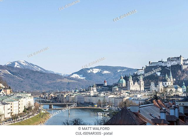 View of Fortress Hohensalzburg, Salzburg, Austria