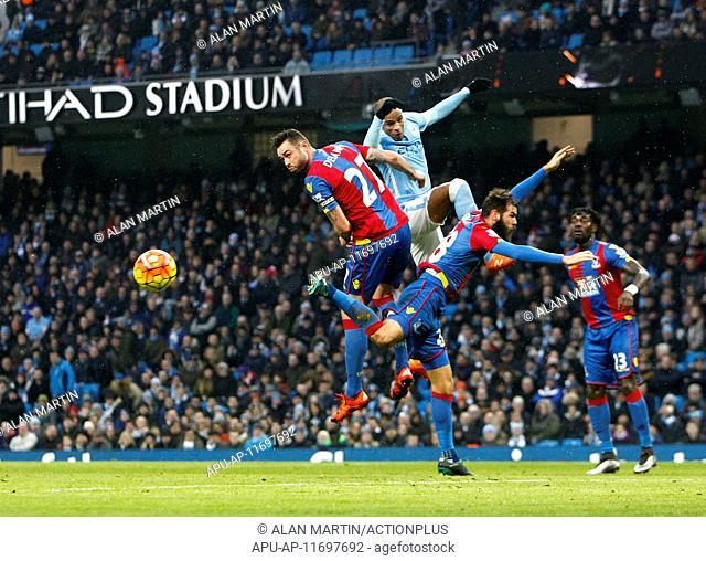 2016 Barclays Premier League Manchester City v Crystal Palace Jan 16th. 16.01.2016. The Etihad Stadium, Manchester, England. Barclays Premier League