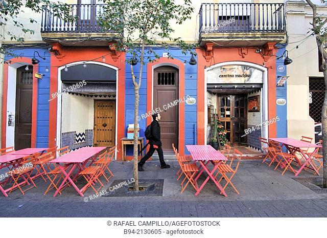 Carrer Torrijos street, Gracia neigborhood, Barcelona, Catalonia, Spain