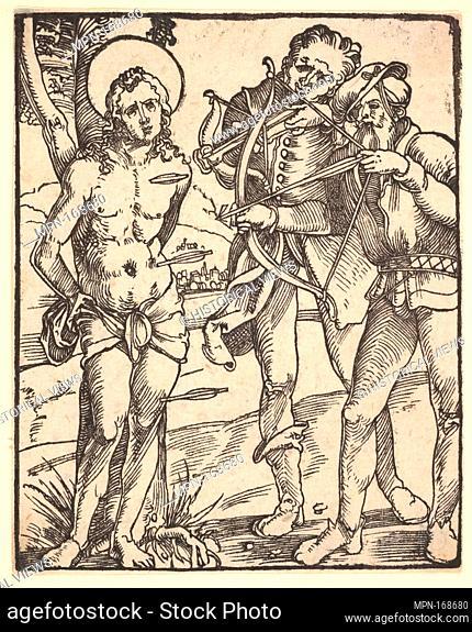 Martyrdom of St. Sebastian with Two Crossbow Men. Artist: Hans Baldung (called Hans Baldung Grien) (German, Schwäbisch Gmünd (?) 1484/85-1545 Strasbourg...